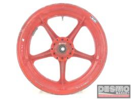 Cerchio rosso Campagnolo magnesio 3,50 x 16 Ducati Racing Vintage