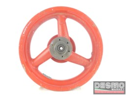 Cerchio rosso Marvic magnesio tre razze 3,50 x 16 Ducati Racing Vintage