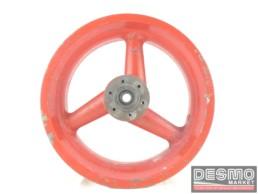Cerchio rosso Marvic magnesio tre razze 4,50 x 16 Ducati Racing Vintage
