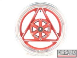 Cerchio rosso Oscam 3,75 x 15 canale diamantato Ducati Paso