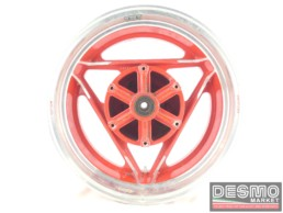 Cerchio rosso Oscam 5 x 16 canale diamantato Ducati Paso