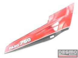 Carena fianchetto laterale sottosella destro rosso grigio Ducati Paso