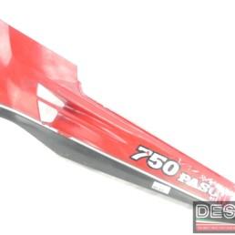 Carena fianchetto laterale sottosella sinistro rosso grigio Ducati Paso