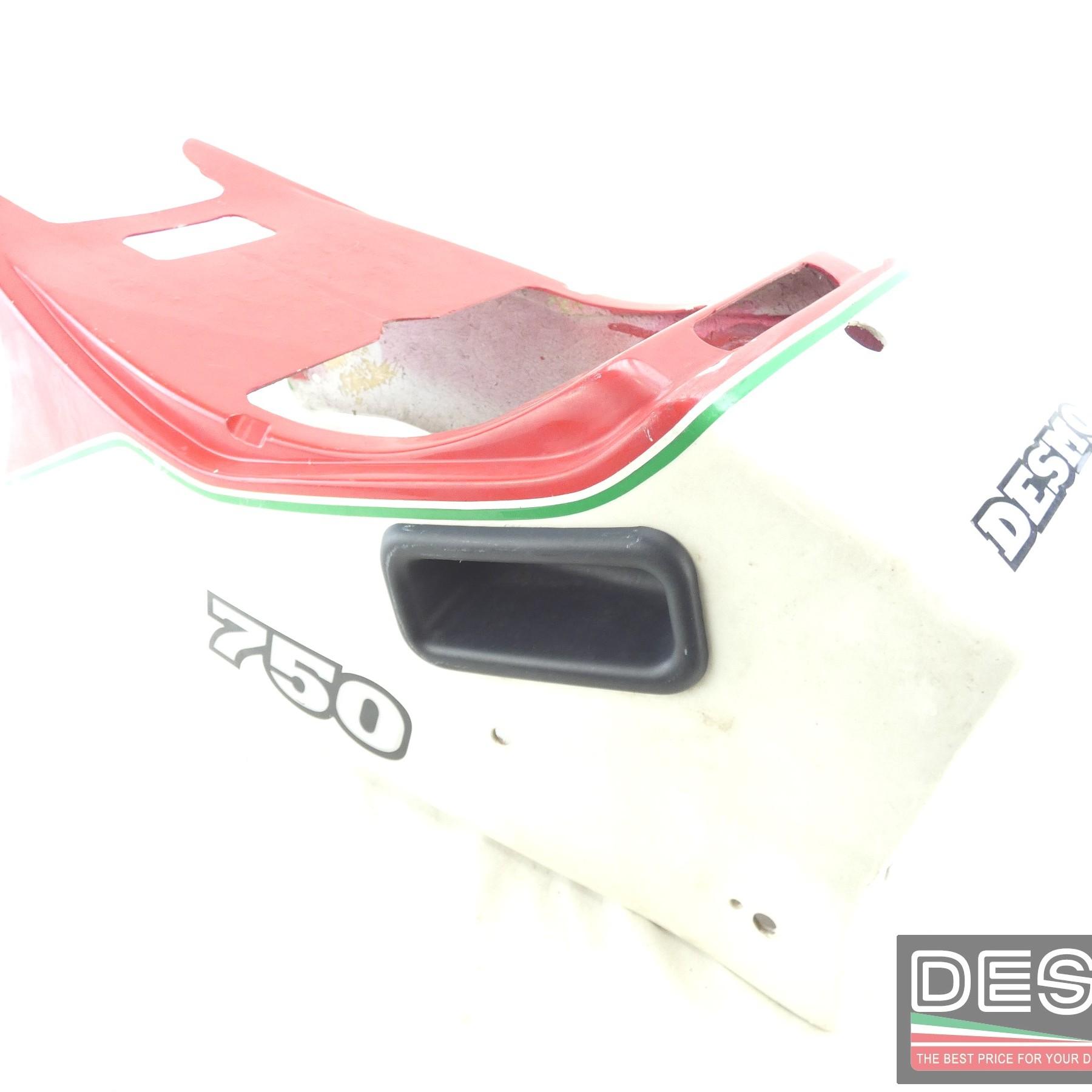 Codone sella biposto bianco rosso Ducati 750 F1 350 F3