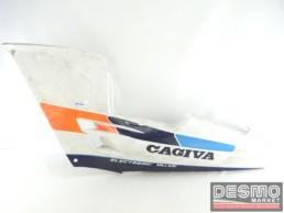 Carena fianchetto sottosella sinistro bianco blu Cagiva Freccia C9 C10