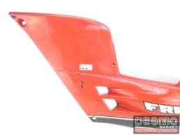 Carena fianchetto sottosella sinistro rosso grigio Cagiva Freccia C9 C10