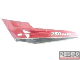 Carena fianchetto sottosella sinistro rosso grigio Ducati Paso 750