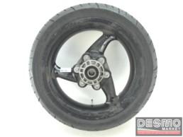 Cerchio posteriore nero tre razze 4,5 x 17 Ducati Monster MTS 620 695
