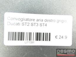 Convogliatore aria destro grigio Ducati ST2 ST3 ST4