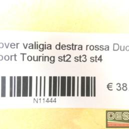 Cover valigia destra rossa Ducati Sport Touring st2 st3 st4
