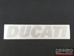 Emblema argento per rosso Ducati 748 916 996 998