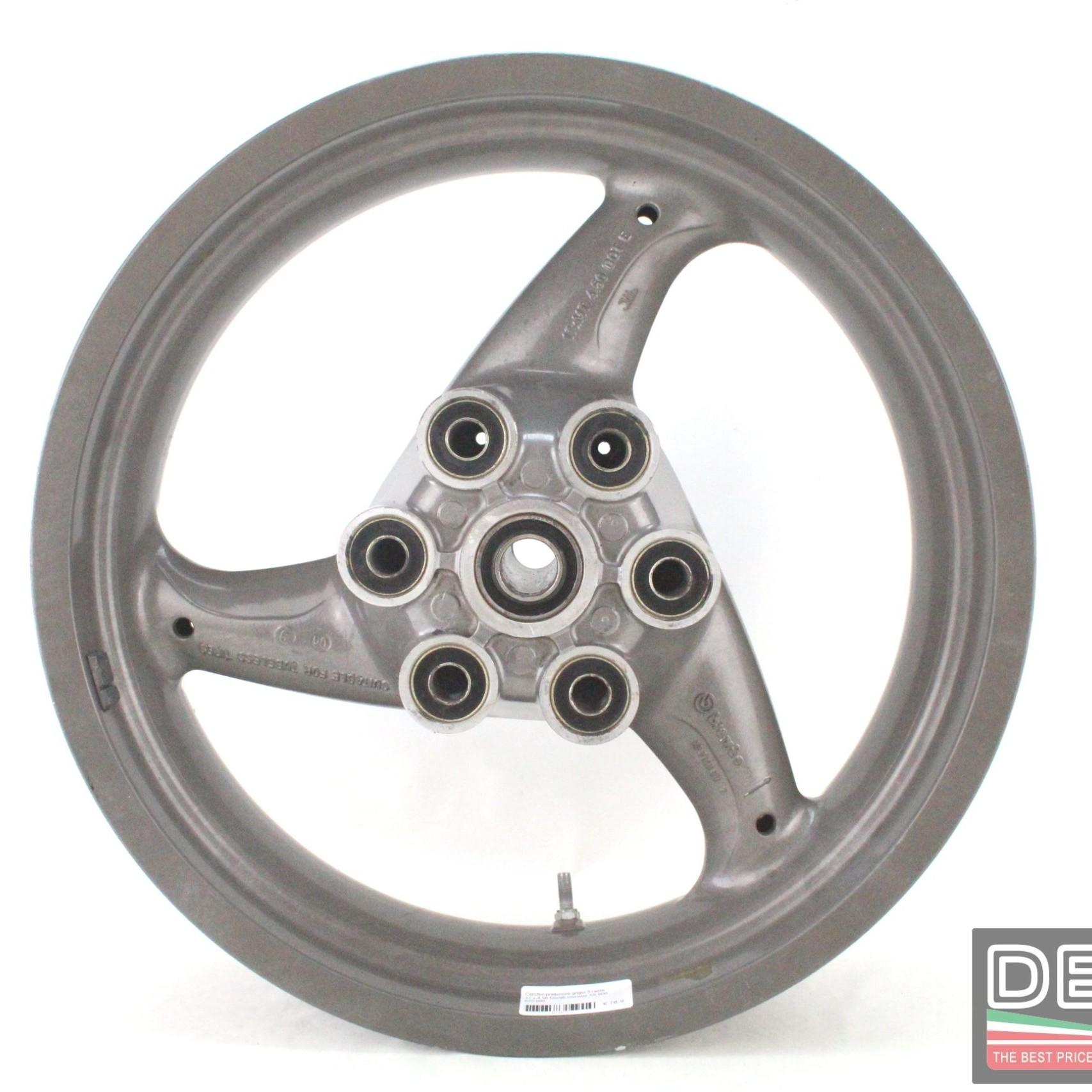 Cerchio posteriore grigio 3 razze 17 x 4 50 Ducati monster SS 600 620 695