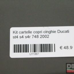 Kit cartelle copri cinghie Ducati st4 s4 s4r 748 2002