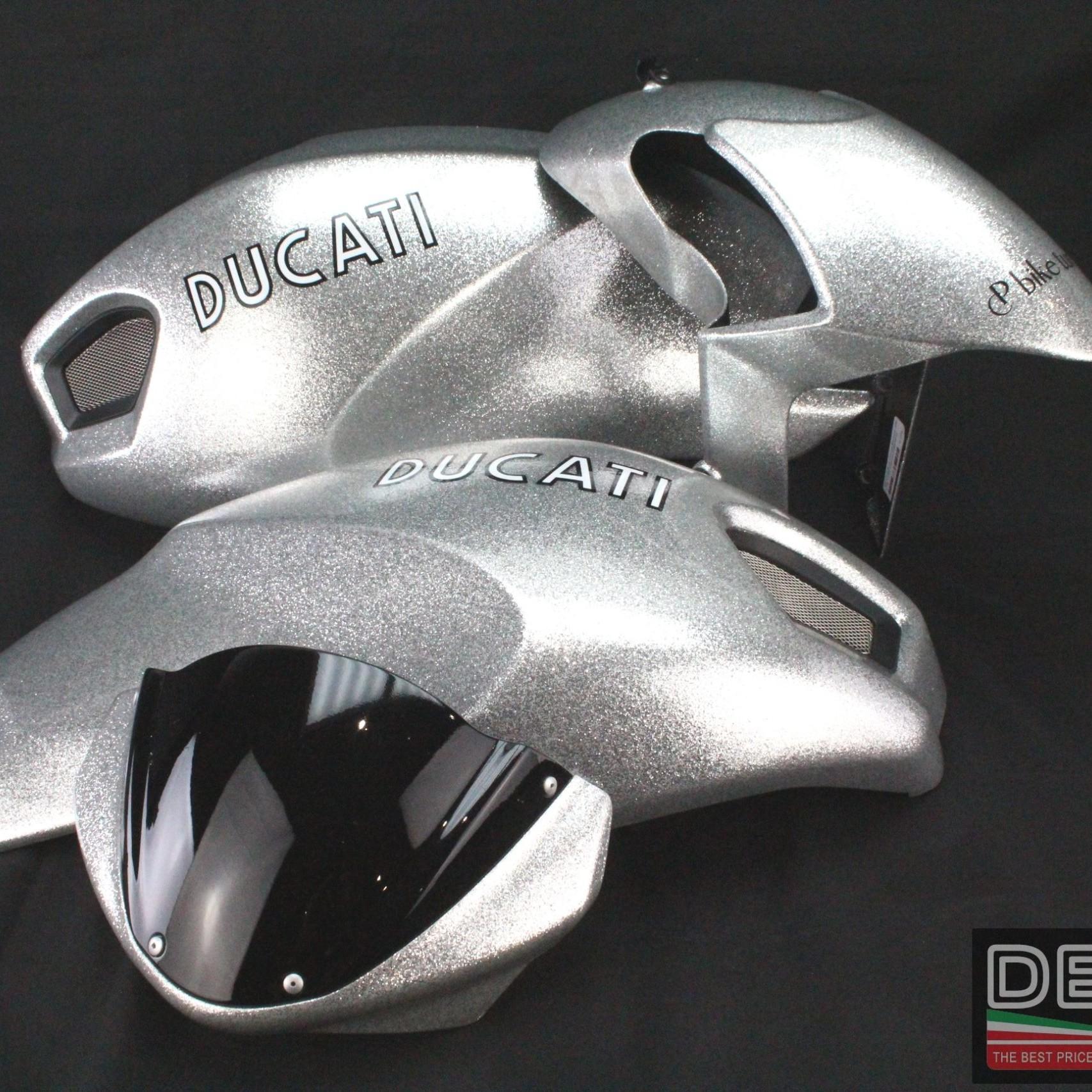 Kit vestizione Ducati Monster 696 796 1100 argento brillantato