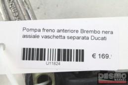 Pompa freno anteriore Brembo nera assiale vaschetta separata Ducati ST2