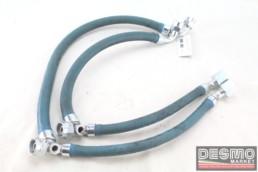 Tubi tubazioni gomma radiatore olio Ducati Paso