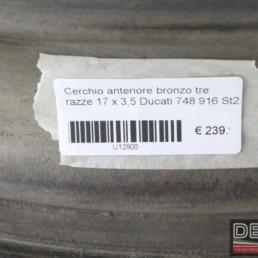 Cerchio anteriore bronzo tre razze 17 x 3,5 Ducati 748 916 St2