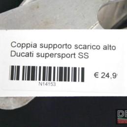 Coppia supporto scarico alto Ducati Supersport SS
