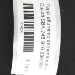 Tappi alluminio semimanubrio Ducati SBK 748 916 996 998