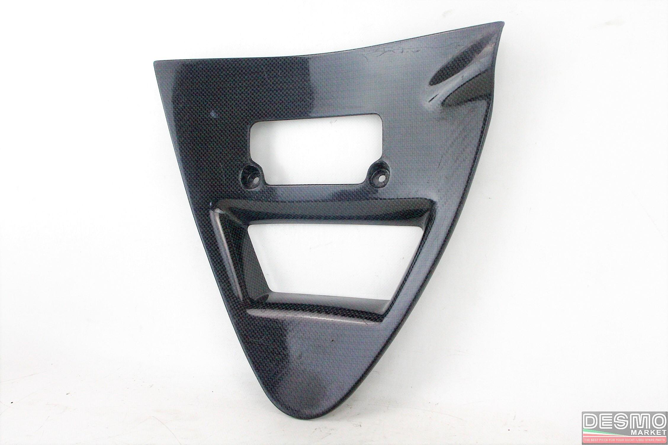Triangolo cover radiatore olio carbonio SBK 748 916 996 grezzo