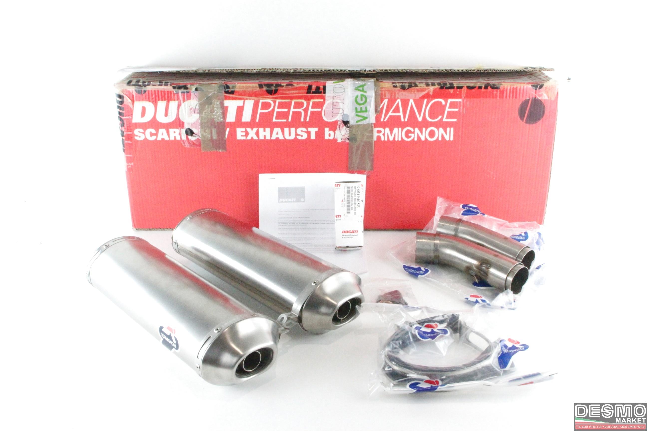 termignoni titanium exhaust silencer ducati 848 cod. 96118508b