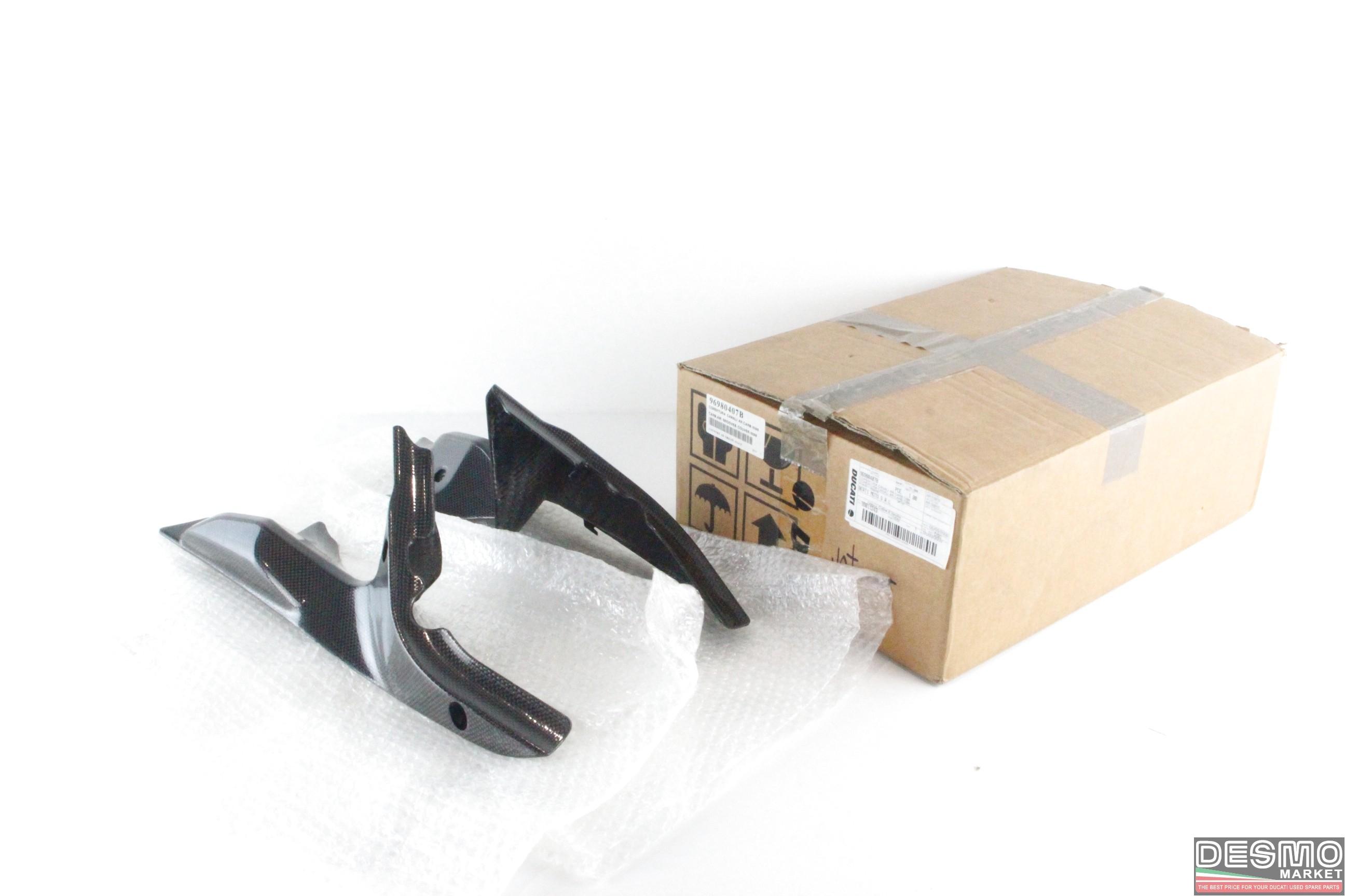 Copri convogliatori carbonio ducati 848 1098 1198 cod. 96980407b